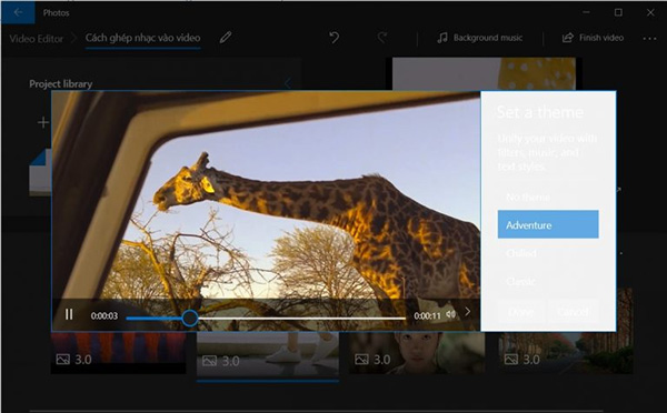 Cách ghép nhạc vào video trên máy tính Windows 10 (4)