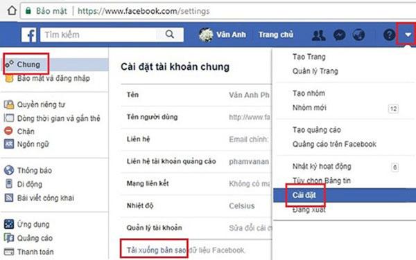 Sử dụng bản sao lưu để khôi phục tin nhắn trên Facebook