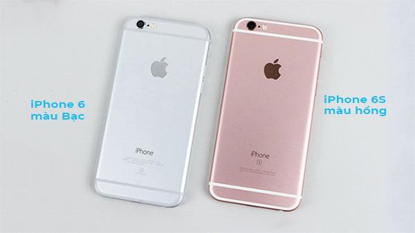 Chỉ có iPhone 6S có màu hồng còn iPhone 6 thì không