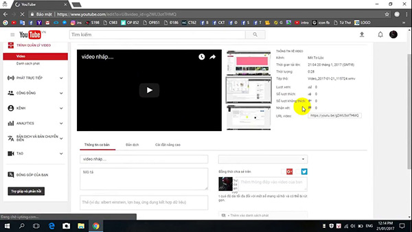 Cách ghép nhạc vào video online trên Youtube (1)