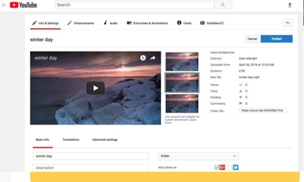 Cách ghép nhạc vào video online trên Youtube