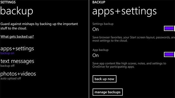 Chọn Đặt lại điện thoại Lumia