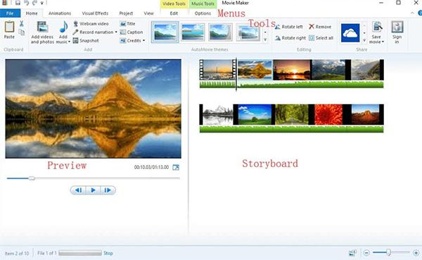 Phần mềm cắt video Windows Movie Maker
