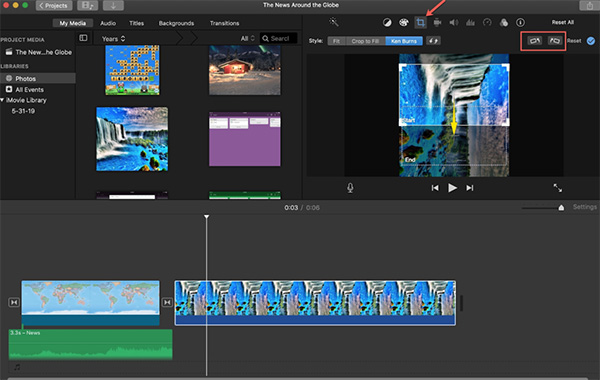 Phần mềm cắt video trên MacOS iMovie