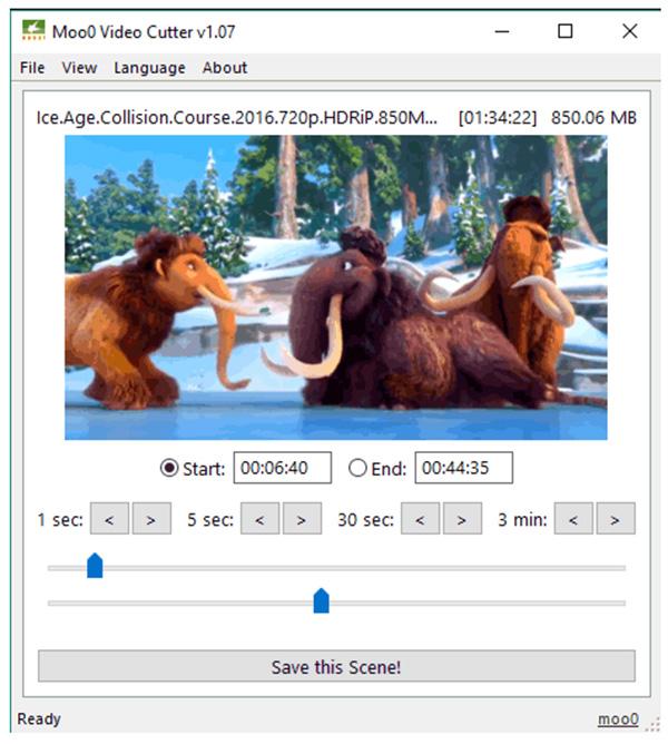 Phần mềm cắt video Moo0 Video Cutter