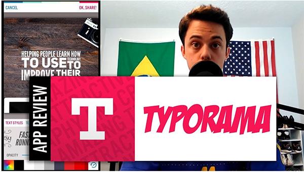 Ứng dụng viết chữ lên ảnh Typorama