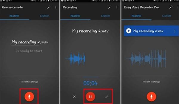Ứng dụng Easy Voice Recorder tích hợp nhiều tính năng thú vị